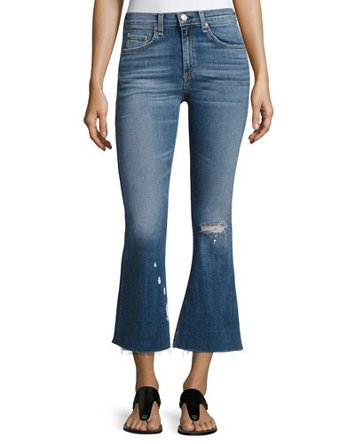 High-Waist Cropped Flare-Leg Jeans, Maybrook