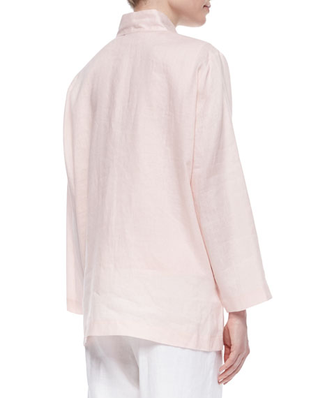 Linen Button-Front Jacket