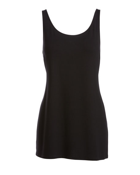 Plus Size Sleeveless Scoop-Neck Lightweight Jersey Tank