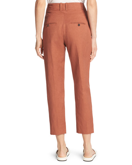 Sateen Cropped Carrot Pants