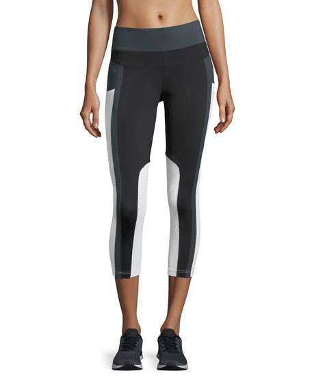 Blanc Noir Allegro Crop High-Waist Performance Leggings, Black