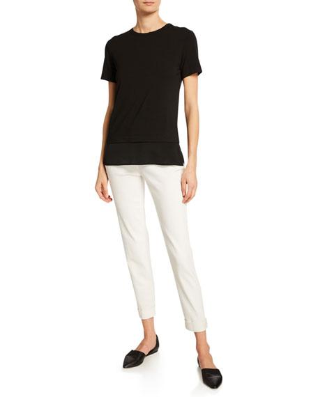 St. John Collection 5-Pocket Slim Capri Bardot Jeans