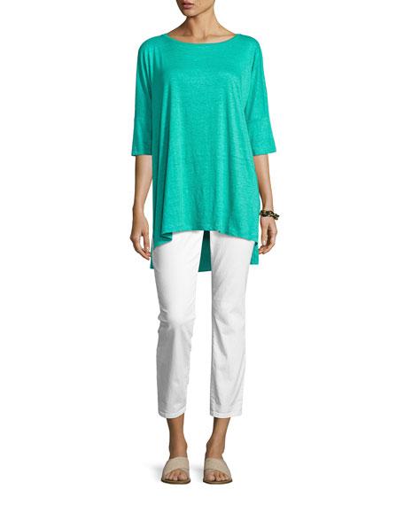 Organic Linen Jersey Boxy Tunic