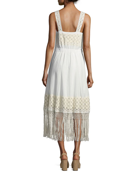 Loveshackfancy Eve Eyelet Cotton Maxi Dress, White | Neiman Marcus
