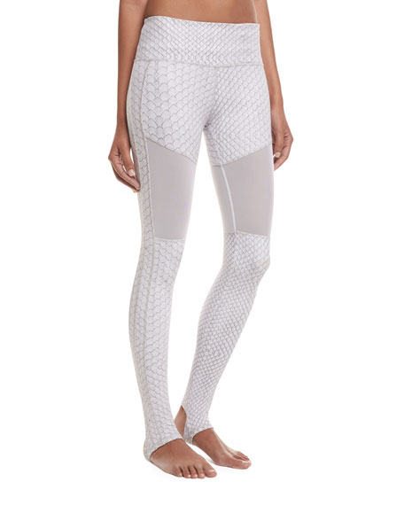 Hillcrest Stirrup Python Performance Leggings, White Pattern