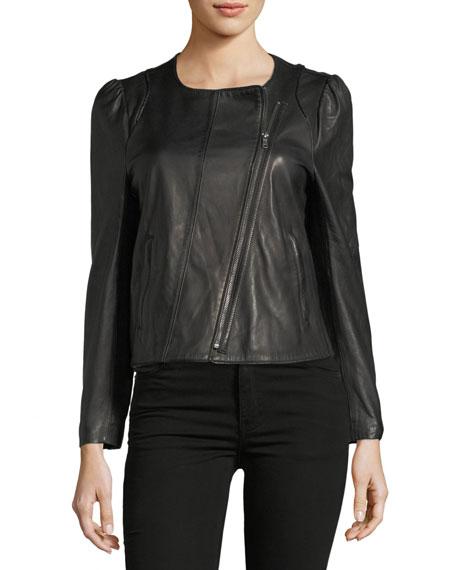 Derica Motorcycle Jacket, Black