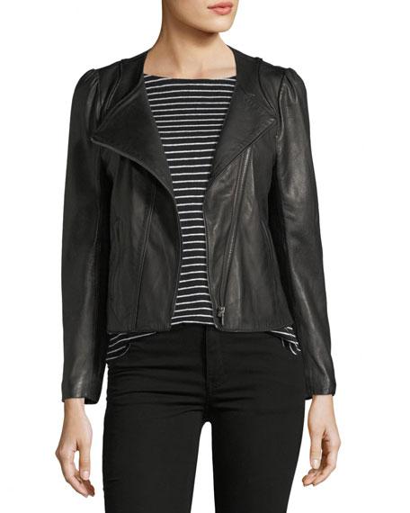 Joie Derica Motorcycle Jacket, Black