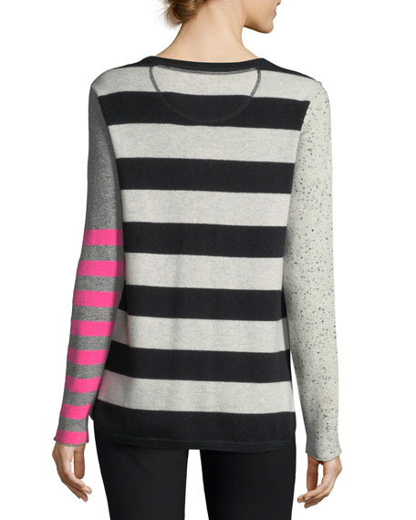 Pop Rocks Cashmere Striped Sweater, Plus Size