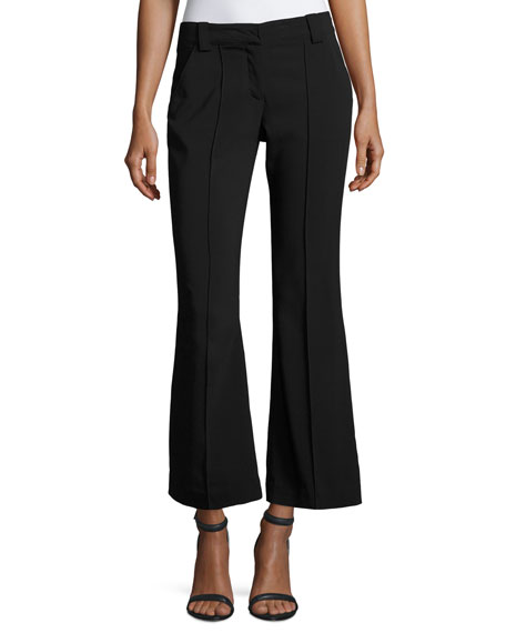 A.L.C. Felix Mid-Rise Seamed Flared Pants