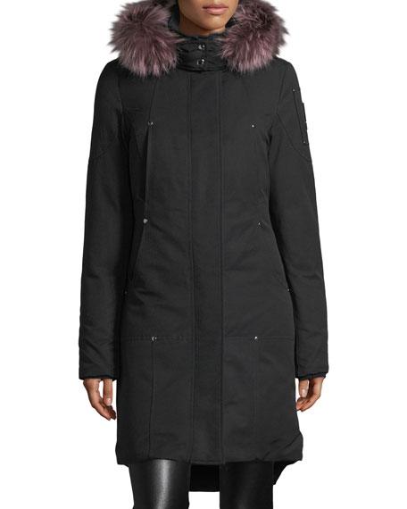 Moose Knuckles Ivex Valley Parka Coat w/ Fur