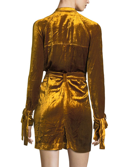 Kendall Velvet Trench Dress