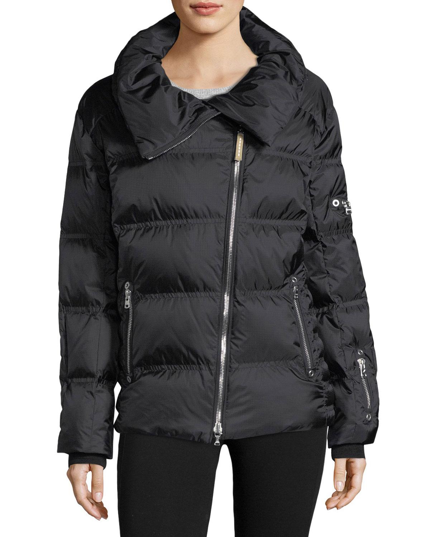 4125b1df6a Bogner Sport Emma Asymmetric-Zip Quilted Puffer Coat