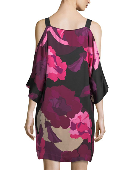 Laurel Floral-Print Cold-Shoulder Dress