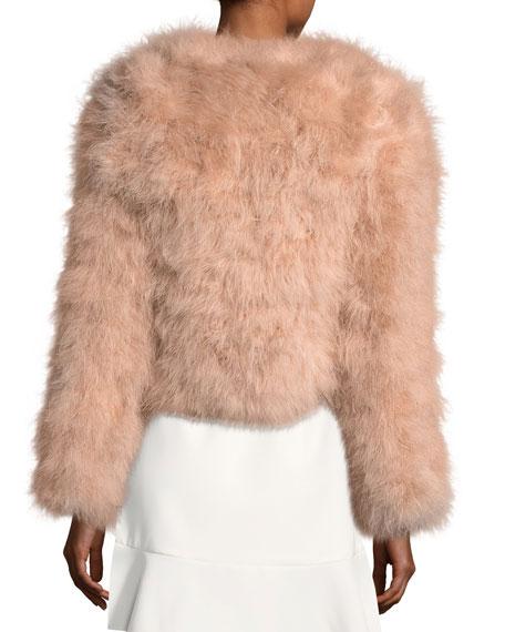 Pacha Long-Sleeve Short Feathered Jacket