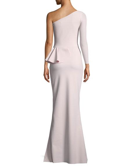 Noriko 3D Rose Asymmetric Gown