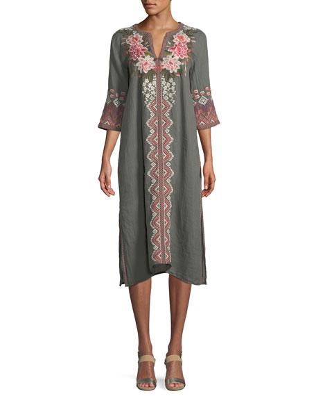 Parnaz Embroidered Caftan Dress