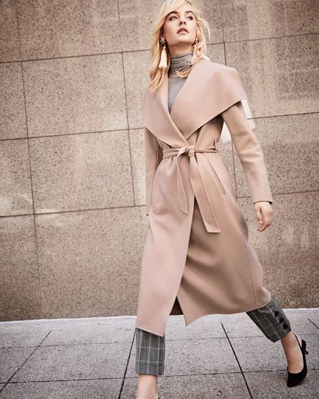 Double-Face Wool Trench Coat w/ Belt