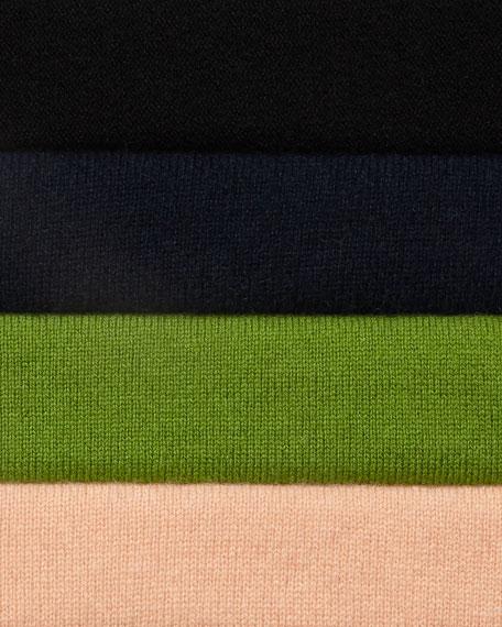 Superfine Cashmere Drape-Collar Cardigan