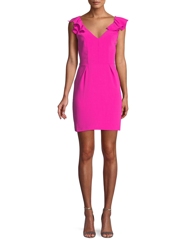 4d2da48bb34b Amanda Uprichard Gimlet Sleeveless Ruffle Mini Dress