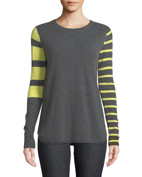 Lisa Todd Petite Classic Pop Striped Cashmere Sweater
