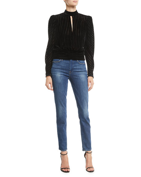 Image 3 of 3: FRAME Le High Skinny Stretch Ankle Jeans
