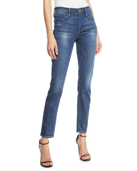 Image 1 of 3: FRAME Le High Skinny Stretch Ankle Jeans