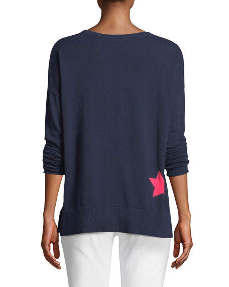 Image 2 of 2: Star Struck Long-Sleeve Cotton Sweater