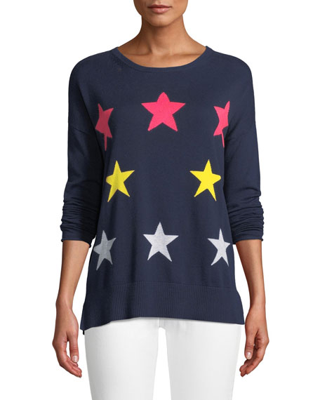 Image 1 of 2: Star Struck Long-Sleeve Cotton Sweater