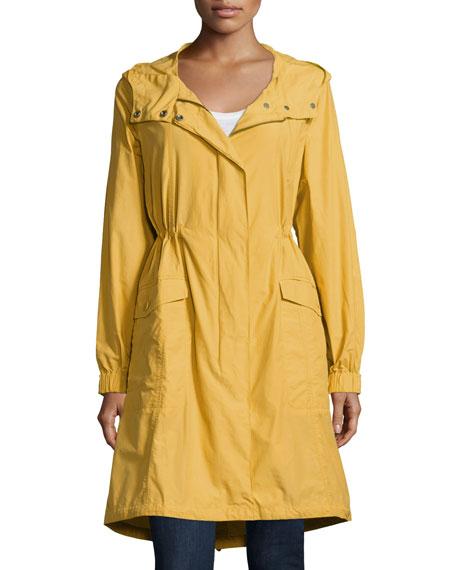 Eileen Fisher Petite Hooded Long Anorak Jacket