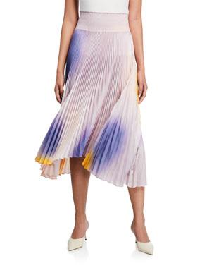 682006344e1e A.L.C. Sonali Pleated Asymmetrical Midi Skirt