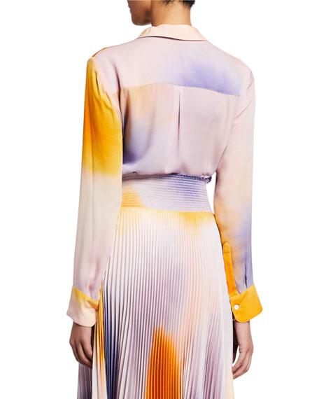 A.L.C. Jayne Silk Button-Up Top