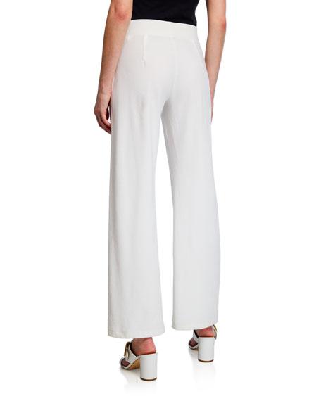 Eileen Fisher Petite Washable Stretch Crepe Modern Straight-Leg Pants