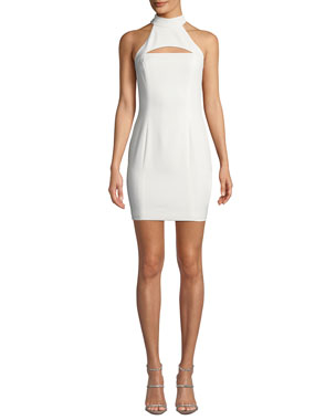 c9205a0f2f3b03 Jay Godfrey Halter-Neck Racerback Mini Dress w/ Chest Cutout. Favorite.  Quick Look