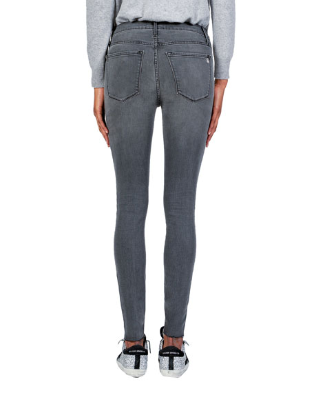 Black Orchid Carmen High-Rise Ankle Fray Jeans with Side Stripes