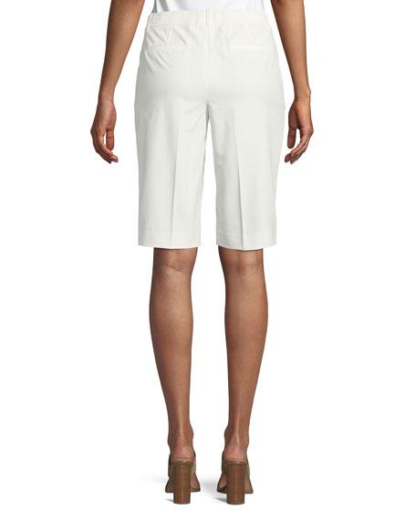 Lafayette 148 New York Manhattan Techno-Stretch Twill Slim Bermuda Shorts
