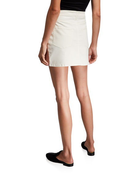 FRAME Le Mini Coated Skirt