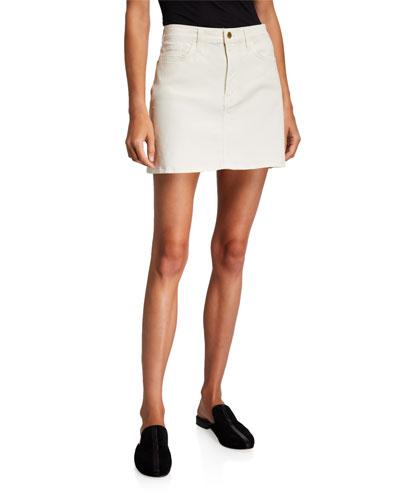 Le Mini Coated Skirt