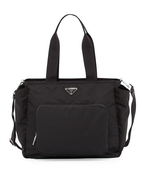 Vela Nylon Baby Bag, Black (Nero)