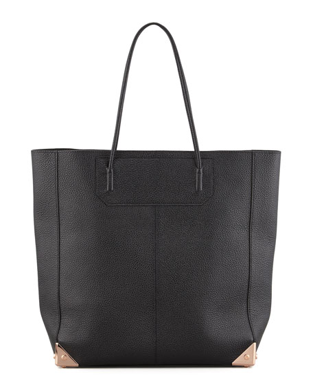 Alexander Wang Prisma Leather Tote Bag, Black/Rose Gold