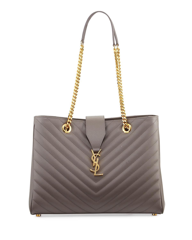 Saint Laurent Monogram Matelasse Shopper Bag   Neiman Marcus 3375735a5d