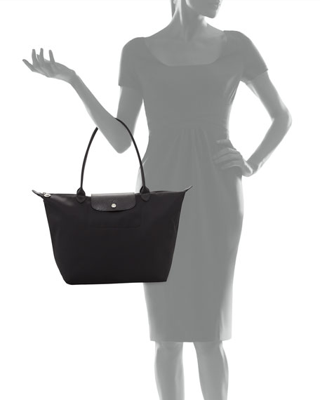 5aeb647e1 Image 3 of 3: Longchamp Le Pliage Neo Large Nylon Shoulder Tote Bag, Black