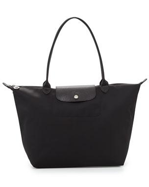 aa0b57c840e Longchamp Le Pliage Neo Large Nylon Shoulder Tote Bag, Black