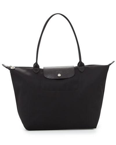 Le Pliage Neo Large Nylon Shoulder Tote Bag  Black