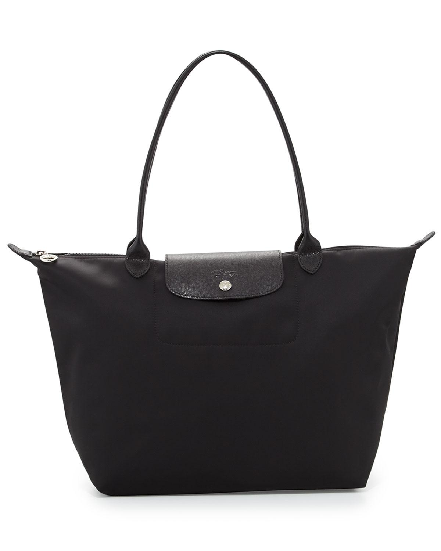 separation shoes 87478 18aba Longchamp Le Pliage Neo Large Nylon Shoulder Tote Bag, Black