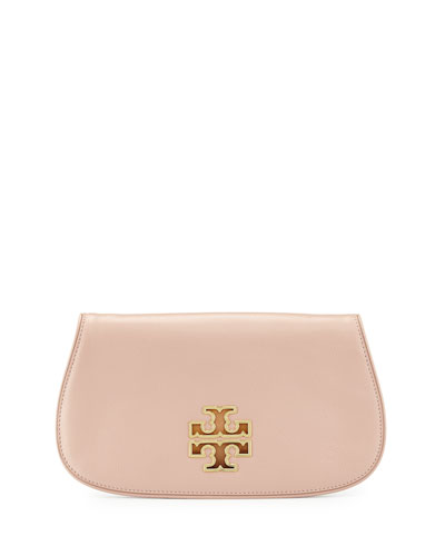 Britten Leather Clutch Bag, Indian Rose