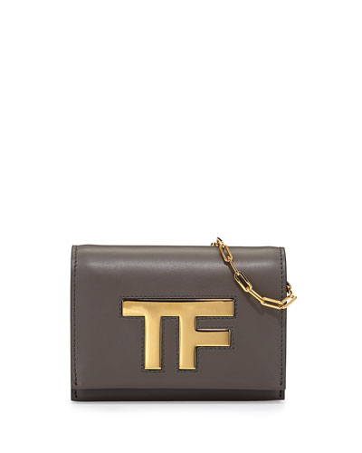 TF Small Flap Crossbody Bag, Dark Gray