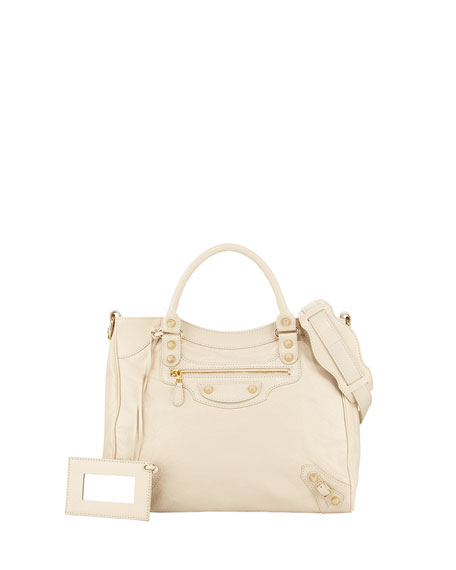 Balenciaga Giant 12 Silver Velo Tote Bag, Cream
