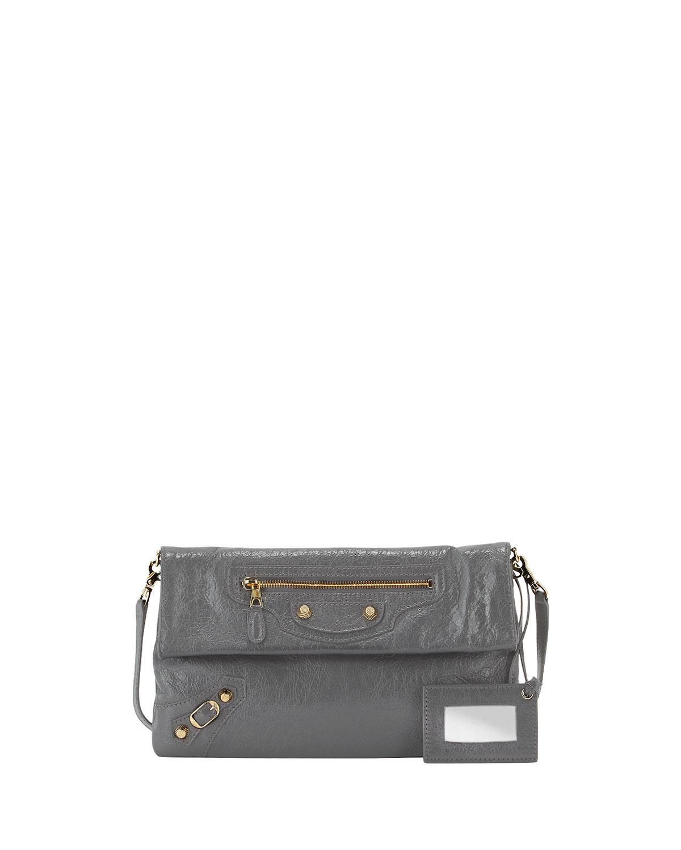 c704e67b94 Balenciaga Giant 12 Golden Envelope Crossbody Bag, Dark Gray ...