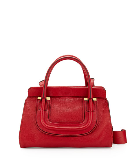 how to spot a fake chloe - Chloe Everston Medium Double Satchel Bag, Red