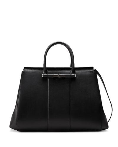 Lady Top Handle Tote Bag, Black
